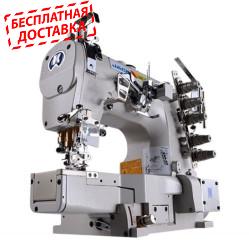 Jack JK-8669BDII-35AC/UT 3-игольная пятиниточная распошивальная швейная машина с цилиндрической платформой и автоматическими функциями