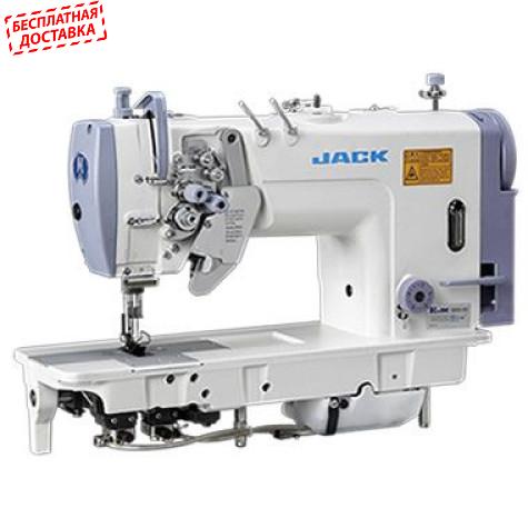 Jack JK-58750B  Двухигольная промышленная швейная машина с отключением игл и увеличенными челноками