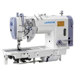 Jack JK-58750-003  Двухигольная промышленная швейная машина с отключением игл и увеличенными челноками
