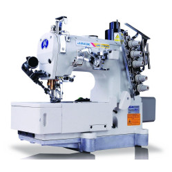 Jack JK-8569ADII-01GB/UT 3-игольная пятиниточная распошивальная машина с плоской платформой, автоматикой и встроенным сервомотором width=