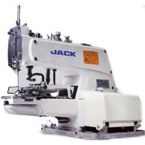 Jack JK-T1377 промышленный однониточный пуговичный полуавтомат для пришивания плоских пуговиц