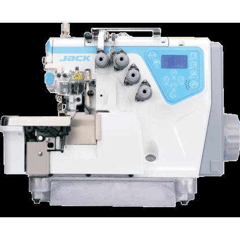 Jack C5-5-03/333 пятиниточный автоматический оверлок с пневматическим устройством удаления обрезков