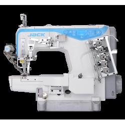 Jack K4-UT-35AC 356/364 Распошивальная машина с цилиндрической платформой, обрезкой нити и подрезкой края материала слева width=