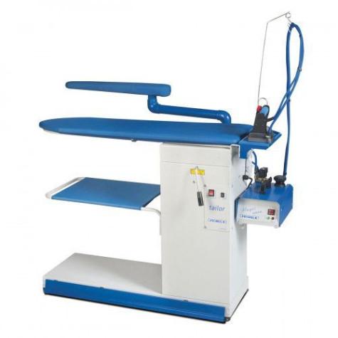 Промышленный гладильный стол с рукавом, подогревом поверхности, вакуумным отсосом и поддувкой PRIMULA TAILOR FL S+B F1