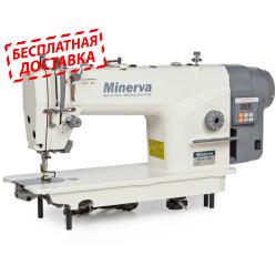 Minerva M818-1JDE Одноигольная швейная машина челночного стежка с функцией обрезки нити
