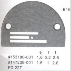 Игольная пластина B16   Ø 1,6 мм  Универсальная