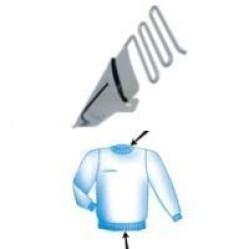 Приспособление для окантовки трикотажной резинкой в два сложения UMA-22 (27~40) width=