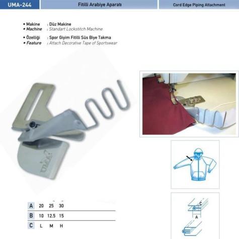 Приспособление для втачки канта со шнуром UMA-244