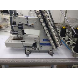 Worlden WD-VC008-12064PD Промышленная 12-ти игольная 24-х ниточная машина цепного стежка с прямым сервоприводом