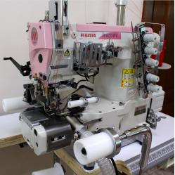 Pegasus W662PVH-33AX356CS/FT9A/RP9A/UT4M Плоскошовная машина с цилиндрической платформой для вшивания резинки трусов боксеров width=