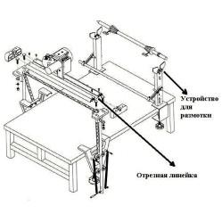 Gemsy GEM B-2 полуавтоматическая отрезная линейка и устройство для размотки рулонов