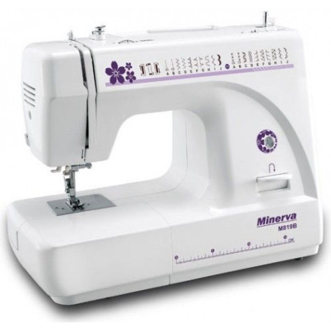 Бытовая швейная машинка с вертикальным челноком Minerva M819B
