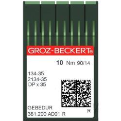 Игла Groz-Beckert 134-35, 2134-35 GEBEDUR позолоченная для колонковых машин 10 шт/уп width=