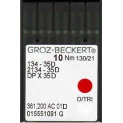 Игла Groz-Beckert 134-35D, 2134-35D, DPx35D для кожи 10 шт/уп width=