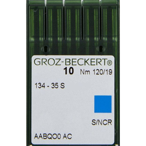 Игла Groz-Beckert 134-35S, 2134-35S, DPx35S для кожи на колонковые машины 10 шт/уп