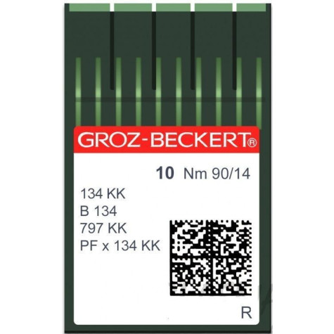 Игла Groz-Beckert 134 KK, B134, 797KK толстая короткая колба 10 шт/уп