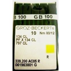 Игла Groz-Beckert 134CL, 797CL, PFx134CL толстая колба с желобком для нити 10 шт/уп width=