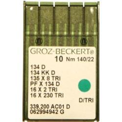 Игла Groz-Beckert 134 D, 134 KKD, 135x8 TRI с толстой колбой для толстой кожи 10 шт/уп width=