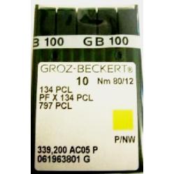 Игла Groz-Beckert 134PCL, PFx134PCL лопатка с толстой колбой 10 шт/уп width=