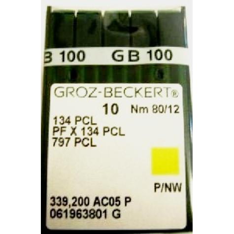 Игла Groz-Beckert 134PCL, PFx134PCL лопатка с толстой колбой 10 шт/уп