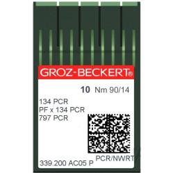 Игла Groz-Beckert 134PCR, PFx134PCR лопатка с толстой колбой 10 шт/уп width=