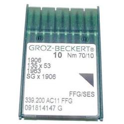 Игла Groz-Beckert 1906, 135x53, 1963FFG №110 трикотажная в упаковке 10 шт width=