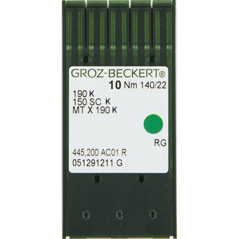 Игла Groz-Beckert 190 K/MTX190 K Упаковка 10шт
