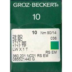 Игла Groz-Beckert 29BD, 29BC, 1717BE, LWx1T для подшивочной машины в упаковке 10 шт. width=