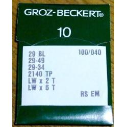 Игла Groz-Beckert LWx6T, 29 BL/29-49/29-34 Упаковка 10шт width=
