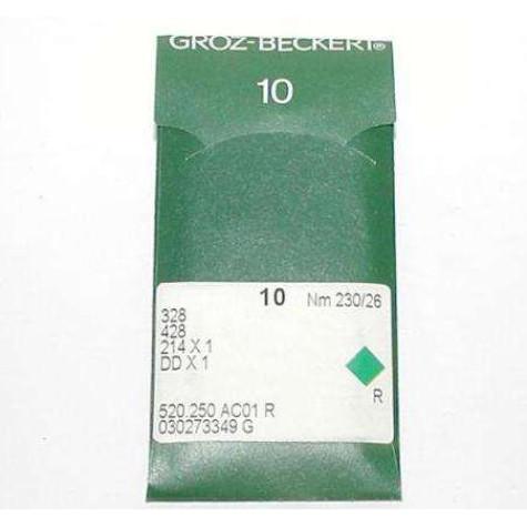 Игла Groz-Beckert 328, 214x1, DDx1 для мокасинной машины 10 шт/уп