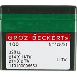 Игла Groz-Beckert 328LL, 214x2NTW, 214x2TW №200 для кожи на мокасинную машину 10 шт/уп width=