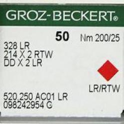 Игла Groz-Beckert 328LR, 214x2RTW, DDx2LR для кожи на мокасинную машину 10 шт/уп width=