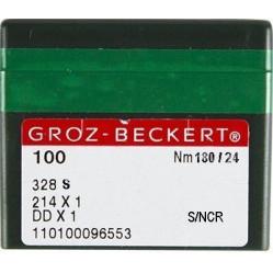 Игла Groz-Beckert 328S, 428S, 214x2NCR №180 для кожи на мокасинную машину 10 шт/уп width=