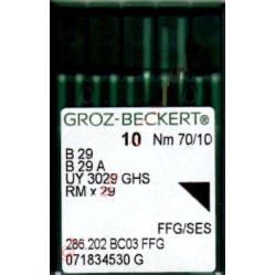 Игла Groz-Beckert B29, B29A, UY3029GHS FFG оверлочная трикотажная 10 шт/уп width=