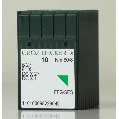 Игла Groz-Beckert B27, SY6120, MY1023 FFG оверлочная трикотажная 10 шт/уп