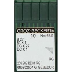 Игла Groz-Beckert B27, 81x1, DCx27 GEBEDUR оверлочная с позолотой 10 шт/уп width=