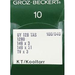 Игла Groz-Beckert UY128TAS, 1280, 149x3 KT №140 тефлоновая для распошивалки 10 шт/уп width=