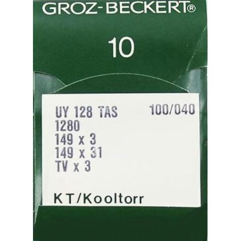 Игла Groz-Beckert UY128TAS, 1280, 149x3 KT №140 тефлоновая для распошивалки 10 шт/уп