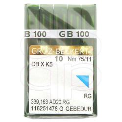 Игла Groz-Beckert DBxK5 GEBEDUR №75 вышивальная с позолотой 10 шт/уп width=