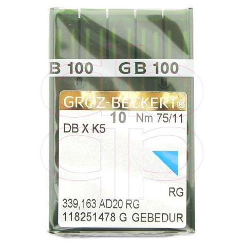 Игла Groz-Beckert DBxK5 GEBEDUR №75 вышивальная с позолотой 10 шт/уп
