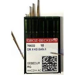 Игла Groz-Beckert DBxK5 SAN1 GEBEDUR вышивальная с позолотой 10 шт/уп width=