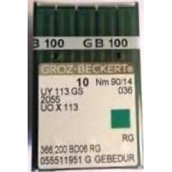 Игла Groz-Beckert UY113GS, 2055 GEBEDUR позолоченная распошивальная 10 шт/уп width=