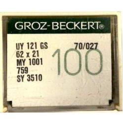 Игла Groz-Beckert UY121GS, 62x21, MY1001 № 140 в упаковке 10 шт width=