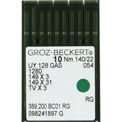Игла Groz-Beckert UY128GAS, 1280, 149x3 для распошивальных машин 10 шт/уп