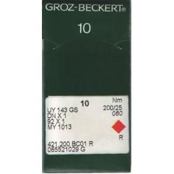 Игла Groz-Beckert UY143GS, 92x1, MY1013, DNx1 для мешкозашивочной машины 10 шт/уп width=