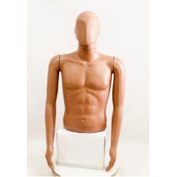 """Манекен мужской витринный укороченный """"Сенсей"""" безликий , телесного цвета."""