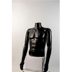"""Манекен мужской витринный укороченный торс без бедер  """"Сенсей"""" без головы"""