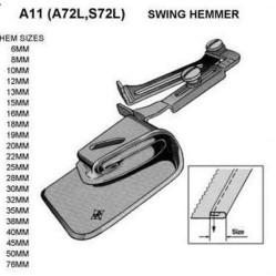 A11 приспособление рубильник для двойной подгибки