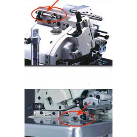 Электронное устройство для дозированной подачи тесьмы Racing MCA 18K-64/TR c устройством для ослабления нити, что облегчает процесс обрезки