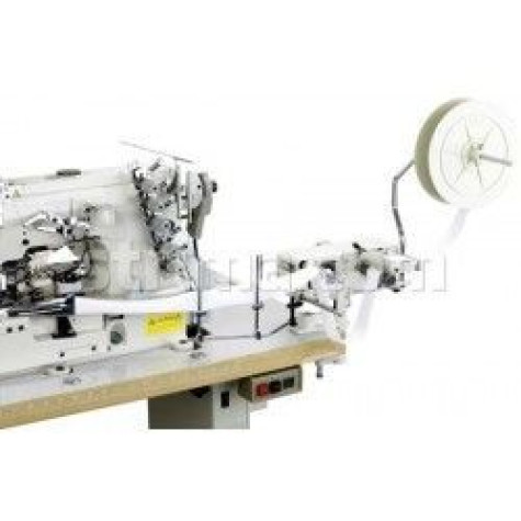 Устройство Racing TFS-26-3 предназначено для боковой подачи эластичной тесьмы к швейному оборудованию